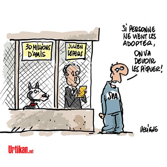 France Télévision : abandons en série - Dessin de Deligne