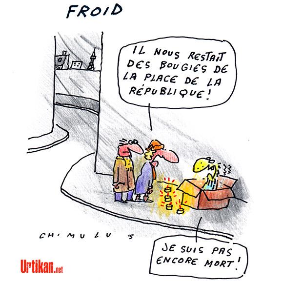 Météo : le froid arrive sur la France - Dessin de Chimulus