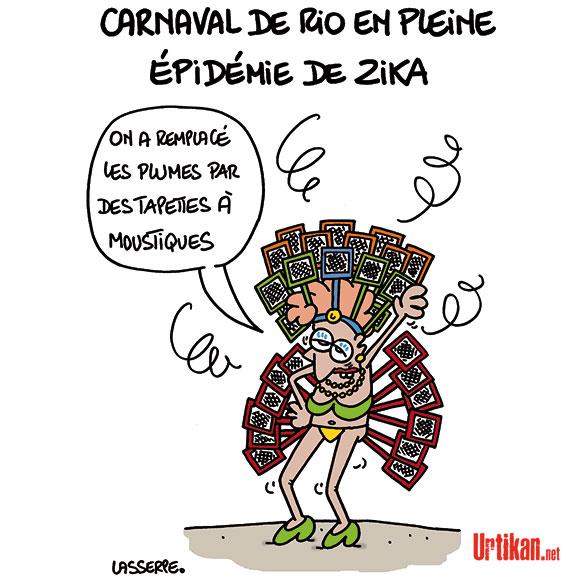 Malgré le virus Zika, le Carnaval de Rio est un succès - Dessin de Lasserpe