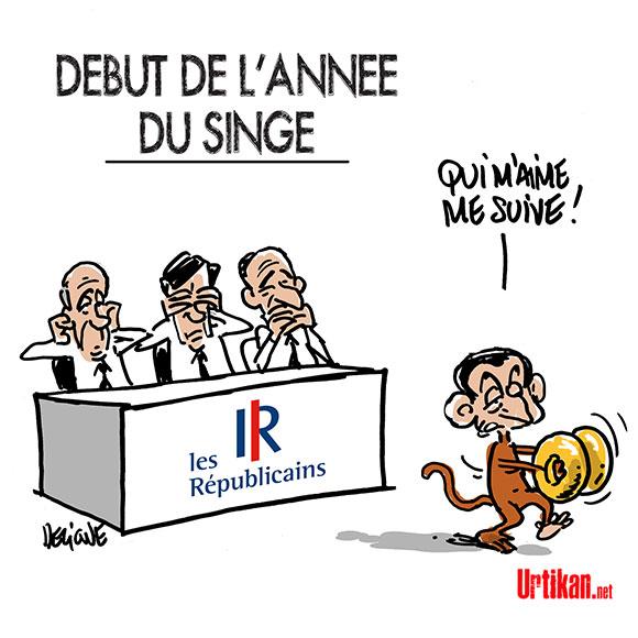 Nicolas Sarkozy snobé par les ténors du parti Les Républicains - Dessin de Deligne
