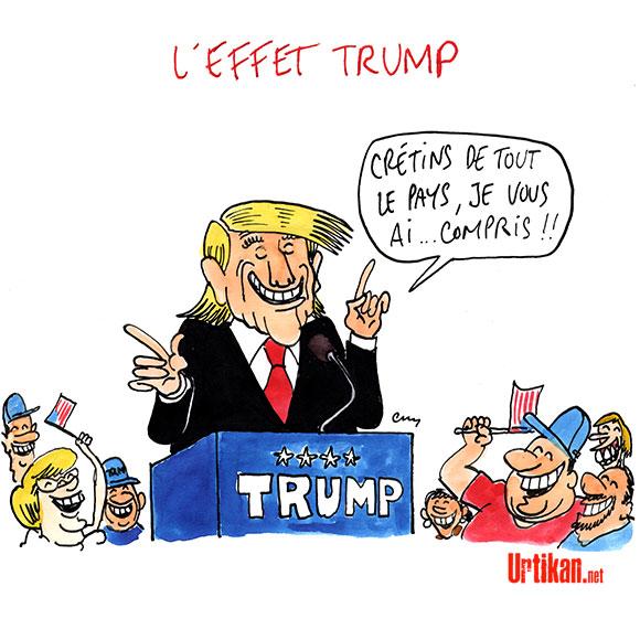 Élections USA : ça Trump énormément - Dessin de Cambon