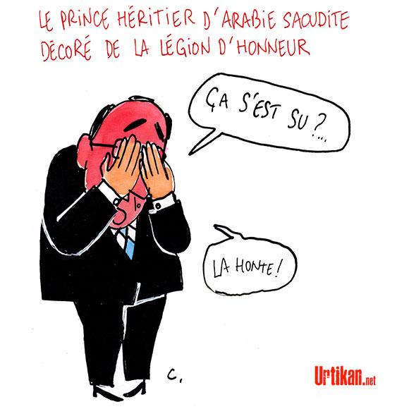 La décoration par Hollande du prince héritier d'Arabie saoudite fait polémique - Dessin de Cambon