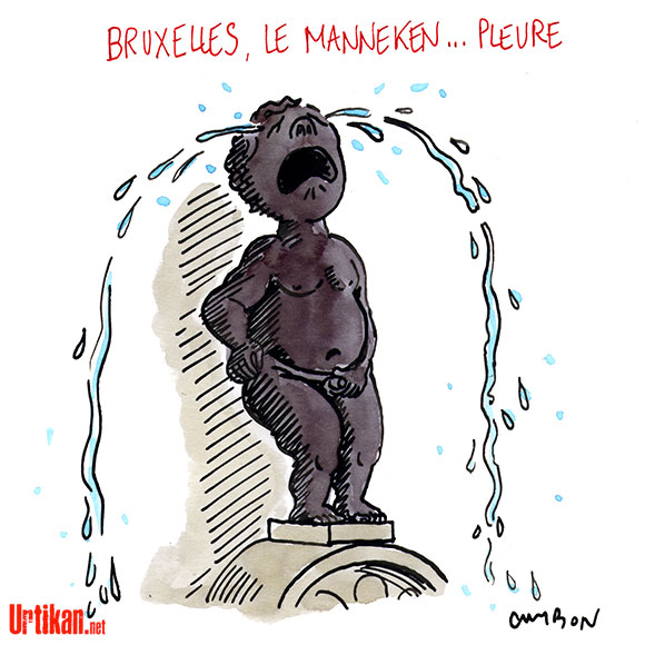 Attentats de Bruxelles : des dessins en guise de soutien - Dessin de Cambon