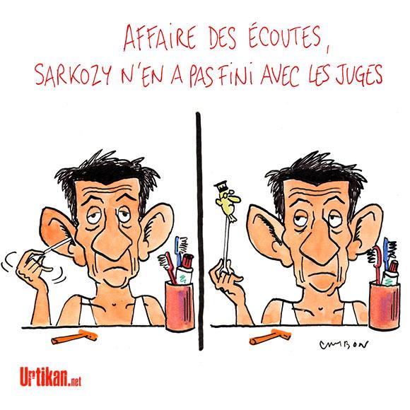 Ecoutes validées : Paul Bismuth fera-t-il chuter Nicolas Sarkozy ? - Dessin de Cambon