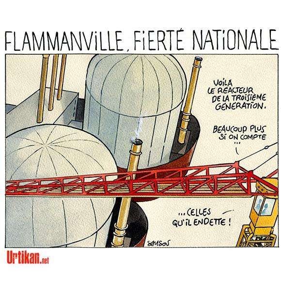 Nucléaire : quel coût pour l'EPR de Flamanville ? - Dessin de Samson