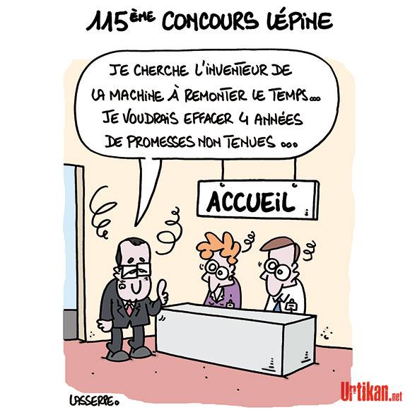 Foire de Paris: les inventeurs ont rendez-vous au 115e concours Lépine - Dessin de Lasserpe