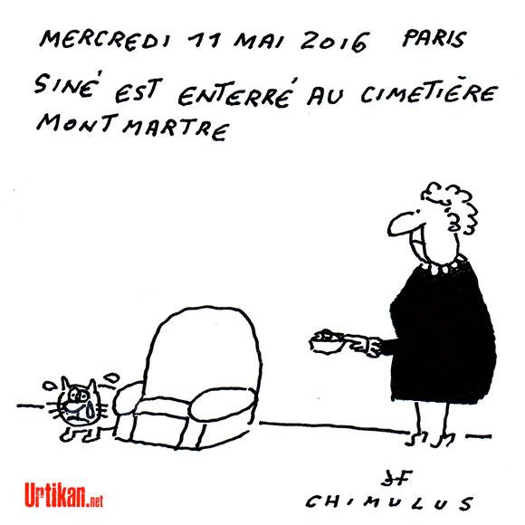 Ciao Siné ! - Dessin de Chimulus et Jacques Faizant