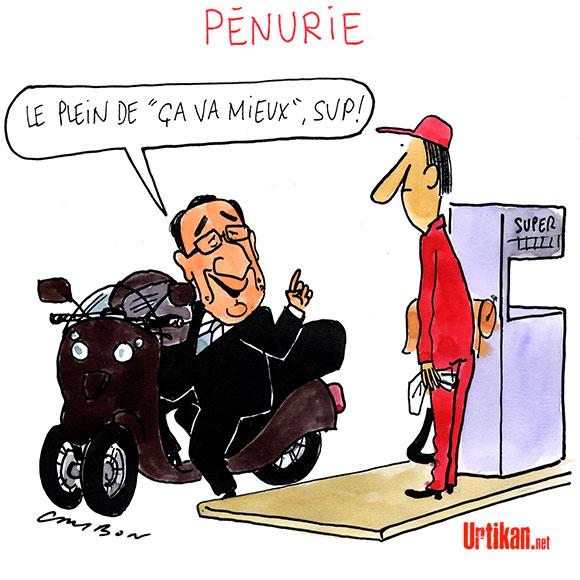 François Hollande désigné «homme d'Etat mondial» de l'année - Dessin de Cambon