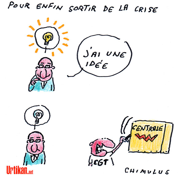 François, il n'a pas de pétrole, mais il a des idées… Dessin de Chimulus