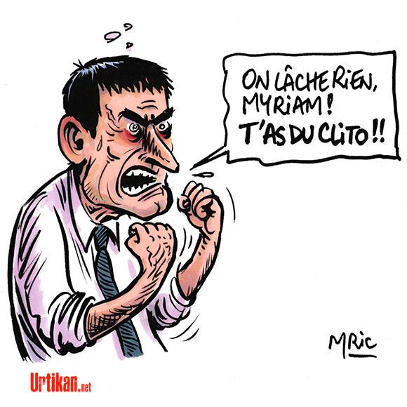 """Projet de loi Travail : """"On ne lâche rien"""" dit Valls en privé - Dessin de Mric"""