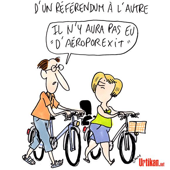 Notre-Dame-des-Landes : « Le référendum est loin d'avoir légitimé le chantier » - Dessin de Cambon