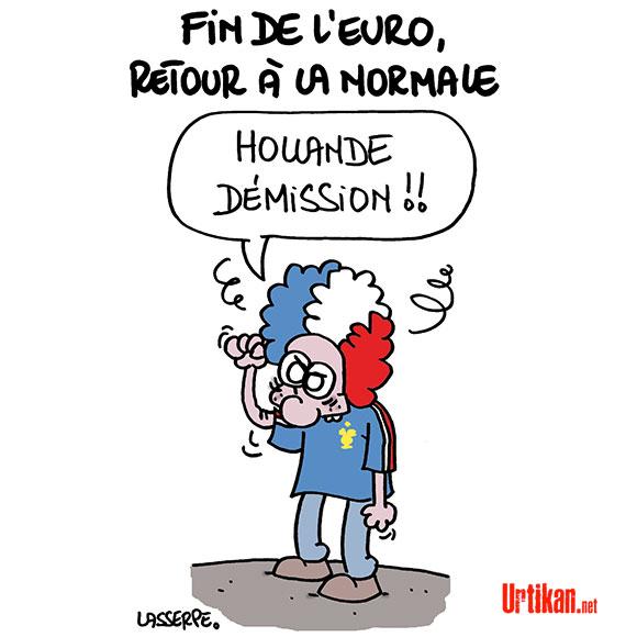 La France a perdu ! - Dessin de Lasserpe