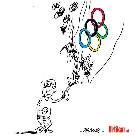 JO 2016 : Rio de Janeiro face au défi de la sécurité - Dessin de Faujour
