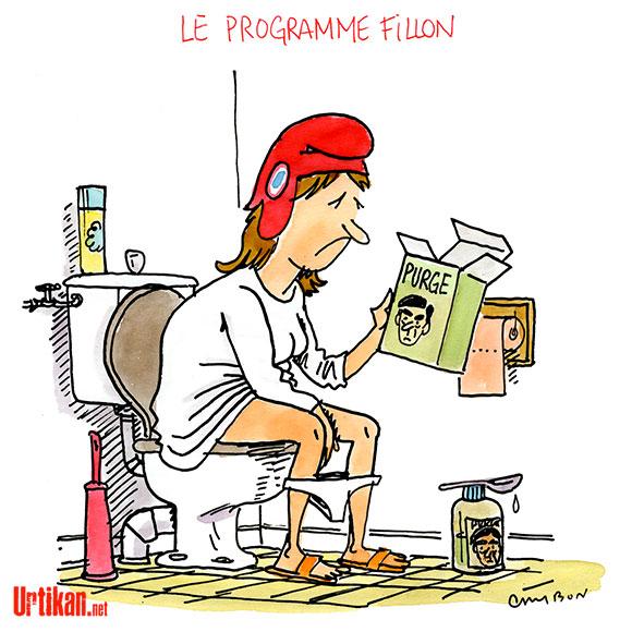 François Fillon : ce qu'il veut pour la France ! - Dessin de Cambon