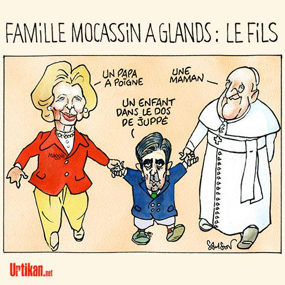 François Fillon : son programme (très) conservateur - Dessin de Samson