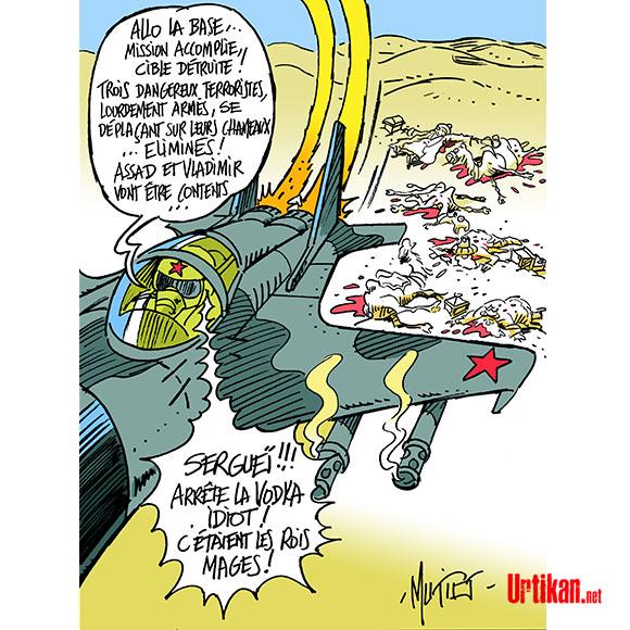 Jour de l'Epiphanie, on déguste... la galette des rois! - Dessin de Mutio