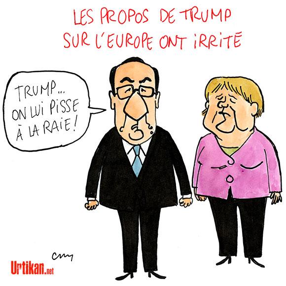 L'Europe répond à Donald Trump - Dessin de Cambon