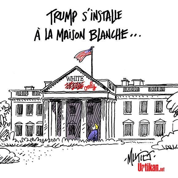 Donald Trump est investi président des Etats-Unis - Dessin de Mutio
