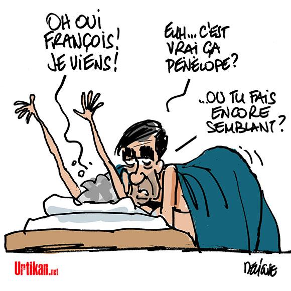 Pénélope Fillon aurait été rémunérée comme attachée parlementaire fictive… - Dessin de Deligne