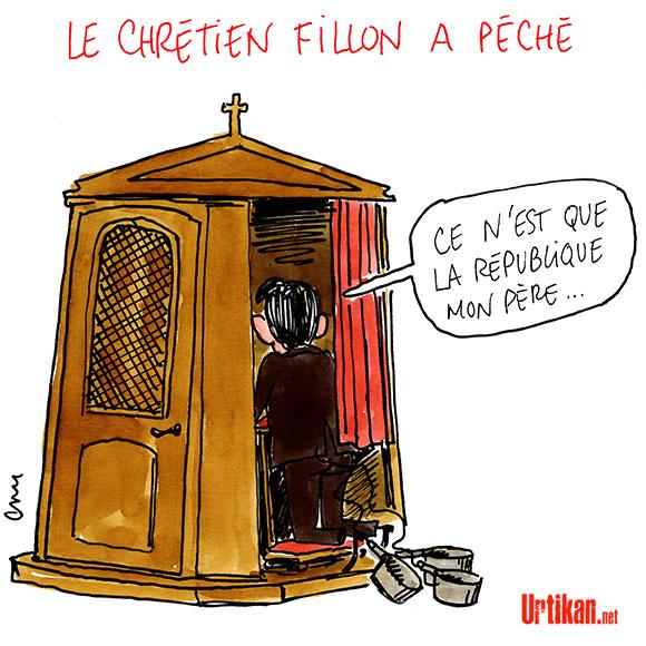 François Fillon, gaulliste et chrétien ? - Dessin de Cambon