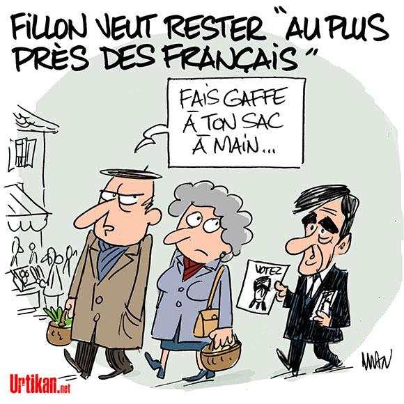Présidentielle : François Fillon veut aller «jusqu'au bout» - Dessin de MAN