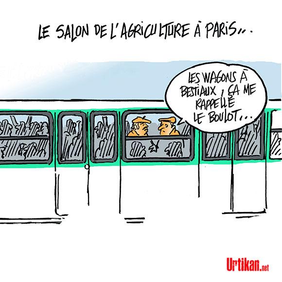La campagne à Paris… Dessin de Mutio