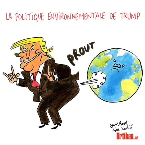 Trump, c'est que du vent… Dessin de Cambon