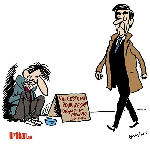François Fillon ou l'art de prendre des vestes… - Dessin de Cambon
