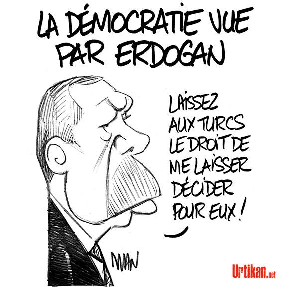 Erdogan : Crise entre l'Europe et la Turquie - Dessin de Man