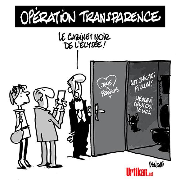 """Quel est ce """"cabinet noir"""" dont parle François Fillon ? - Dessin de Deligne"""