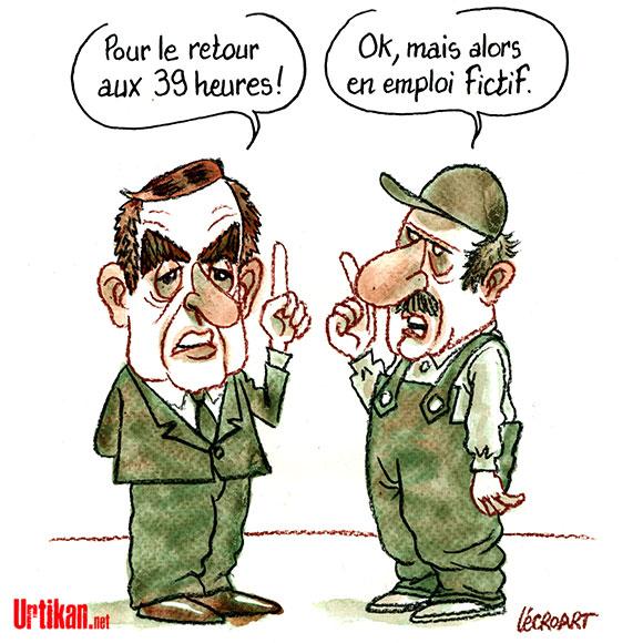 François Fillon, les profiteurs, ce sont les autres ! - Dessin de Lécroart