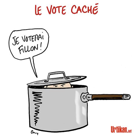 François Fillon et la stratégie du «vote caché» - Dessin de Cambon