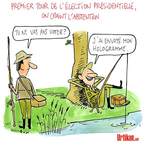Présidentielle 2017 : l'abstention, premier parti de France ? - Dessin de Cambon