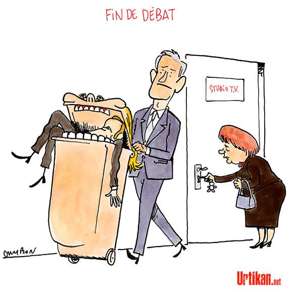Débat ou pugilat ? La presse regrette la violence du duel Macron – Le Pen - Dessin de Cambon