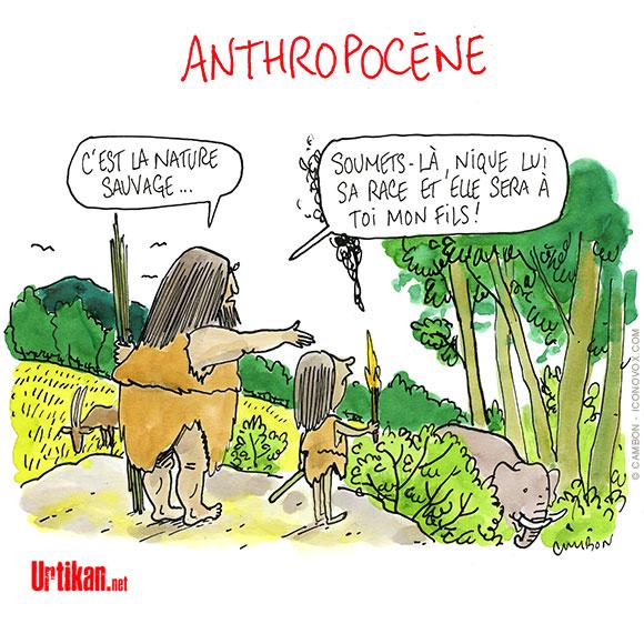 Anthropocène : Un monde où le vivant s'effondre - Dessin de Cambon