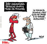 Michael Schumacher conscient? - Dessin de Deligne