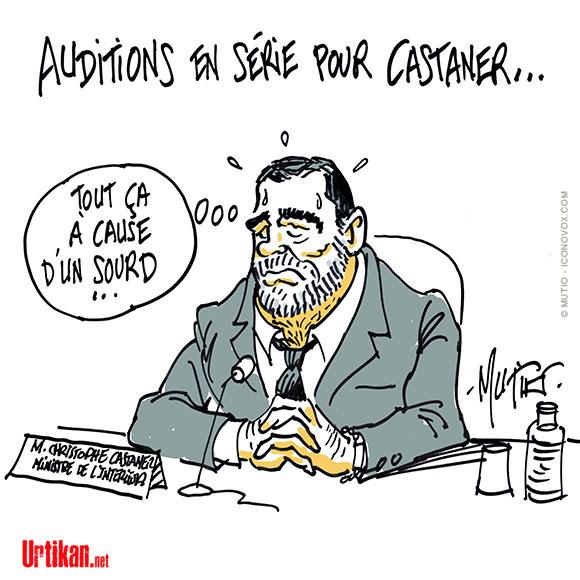 Christophe Castaner sous la pression des parlementaires - Dessin de Mutio