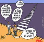 Réforme du chômage : le modèle social à la français mis à mal - Dessin de Mutio