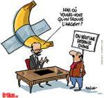 Retraites : on va se faire bananer - Dessin de Deligne