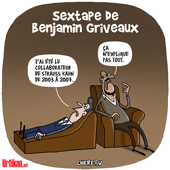 Après des vidéos intimes, Benjamin Griveaux renonce à la mairie de Paris - Dessin de Chereau
