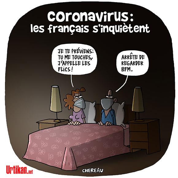 Coronavirus : « La meilleure protection des Français, c'est l'anticipation », selon Édouard Philippe - Dessin de Chereau
