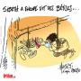 Sibeth Ndiaye, décontractée de la communication - Dessin de Mutio