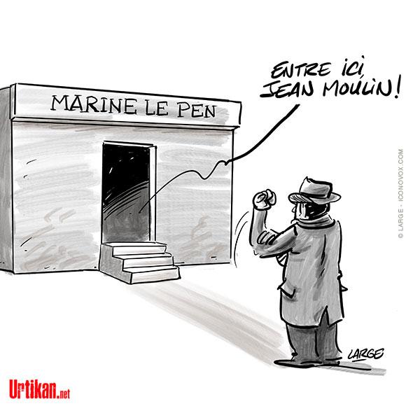 Excuses de la France pour l'Algérie : Marine Le Pen réplique - Dessin de Large