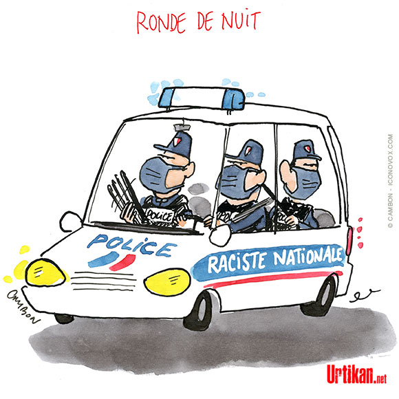 Quand la police frappe fort… - Dessin de Cambon