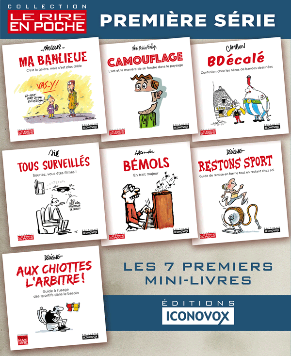 Couverture de la collection Le Rire en Poche  aux Editions Iconovox
