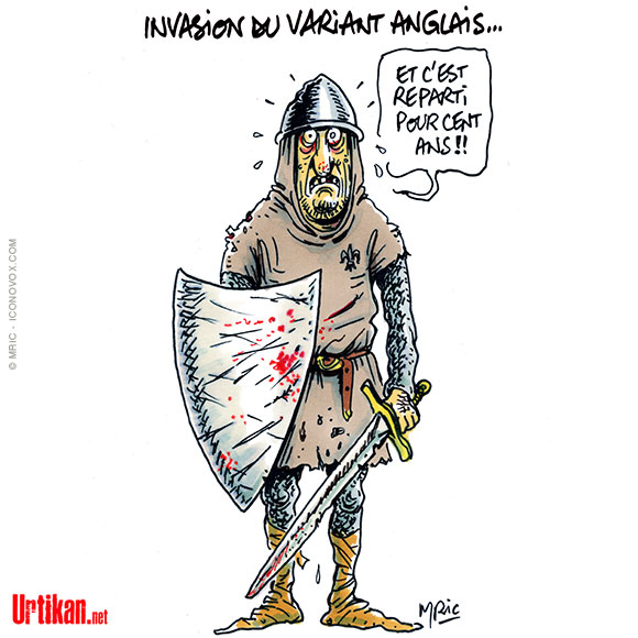 France : Covid et variant… - Dessin de Mric