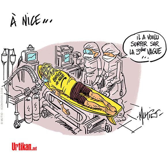 Nice : deuxième week-end de confinement - Dessin de Mutio