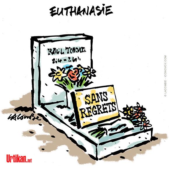 La loi sur l'euthanasie aurait pu être adoptée - Dessin de Lacombe