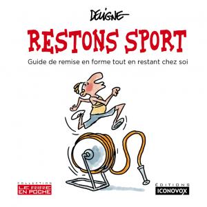 Couverture du Livre de dessins Soyons sport du dessinateur DELIGNE