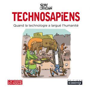 Couverture du Livre de dessins Technosapiens du dessinateur Rémy CATTELAIN